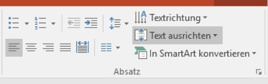 Text ausrichten in PowerPoint