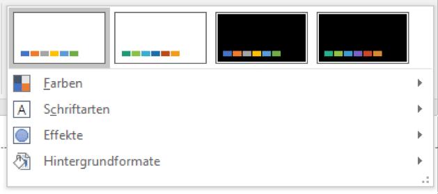 Designvorlage formatieren und anpassen
