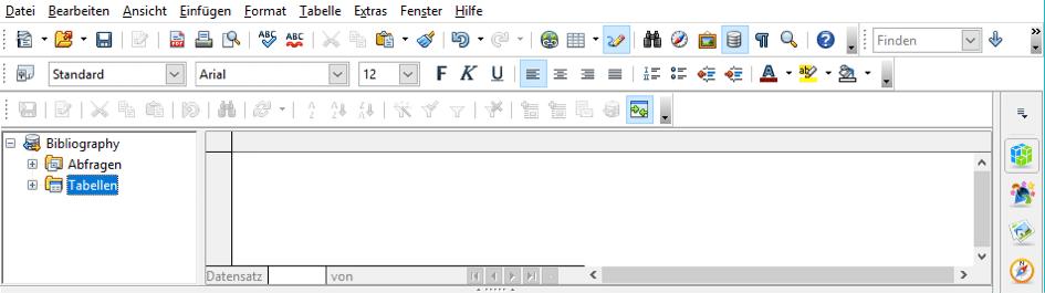 Abkürzungsverzeichnis mithilfe der OpenOffice-Datenbank erstellen