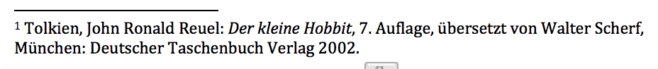 Deutsche Zitierweise, Vollzitat