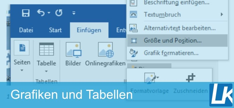 GRAFIKEN & TABELLEN ERSTELLEN | in Word & OpenOffice