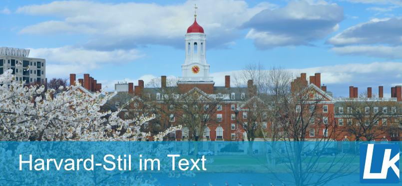 Im Text nach Harvard Methode zitieren