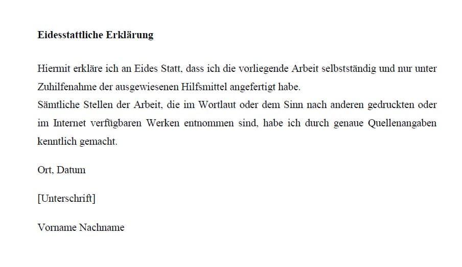 Vorlage der Universität Passau