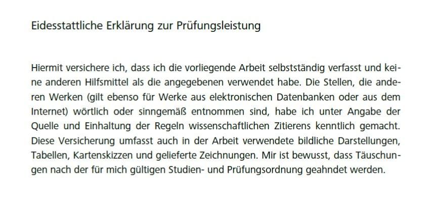 Masterarbeiten versicherung aufsatz typisch deutsch