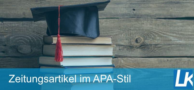 Zeitungsartikel nach APA-Zitierweise zitieren