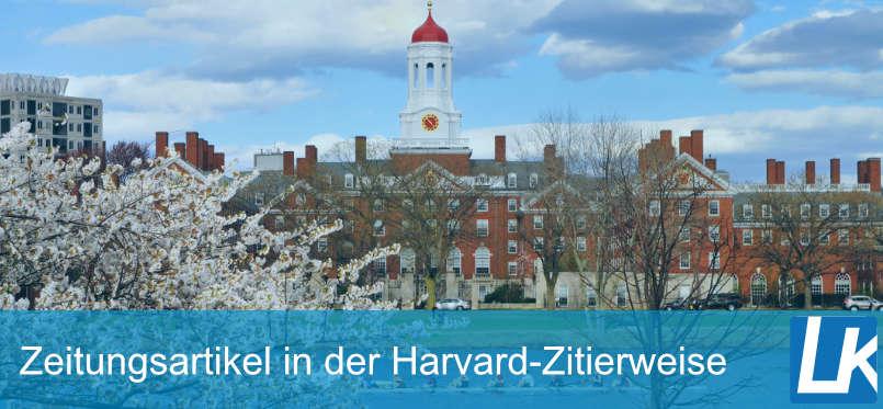 Zeitungsartikel in der Harvard-Zitierweise zitieren